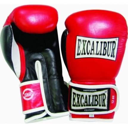 Боксерские перчатки Excalibur 517 красные 10 унций
