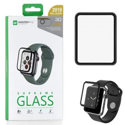 Защитное стекло Apple Watch 44mm Amazingthing SupremeGlass Hot Bending 3D Black 0.3mm