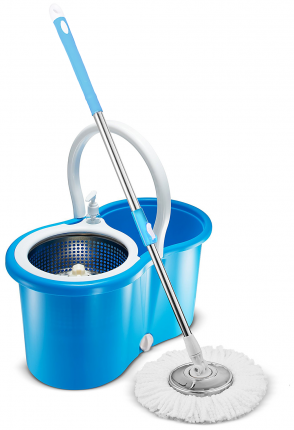 Набор для уборки Spin Mop Pro 360 (швабра, ведро со стальной центрифугой)