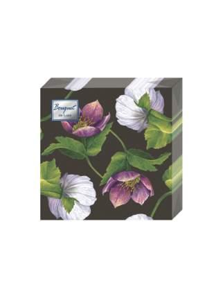 """Салфетки бумажные Bouquet """"Декоративный цветок"""" трехслойные, 24х24 см, 25 листов."""