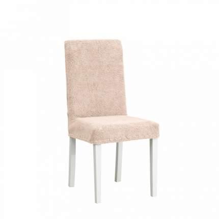 Чехол на стул плюшевый Venera, цвет бежевый, 1 предмет