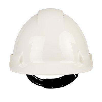 Каска защитная c вентиляцией, стандартное оголовье, УФ индикатор, белая, ЗМ G3000CUV-VI