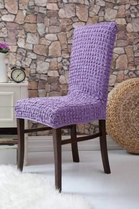 Чехол на стул без оборки Venera, цвет сиреневый, 1 предмет