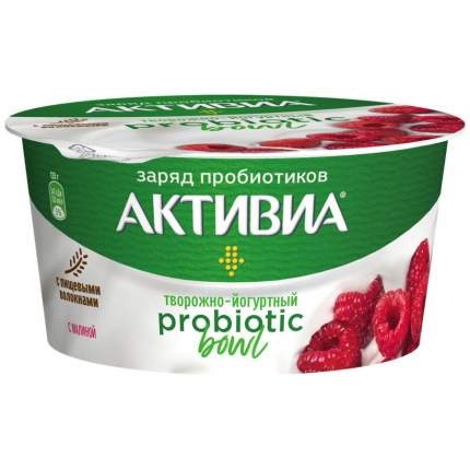 Бзмж биопрод.активиа твор 3.5% малина 135г