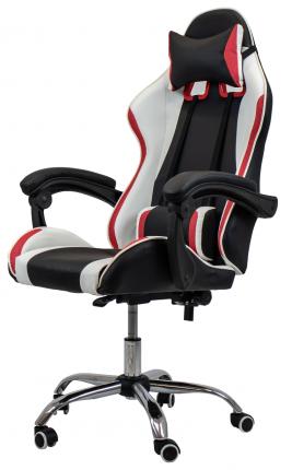Игровое кресло Raybe K-5923 1053038, красный/черный/белый