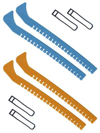 Набор зимний: Чехлы для коньков голубые + Чехлы для коньков желтые