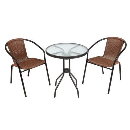 Набор садовой мебели Экодизайн 210171 black; brown 3 предмета