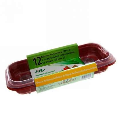 3 по цене 2! 3 мини-теплички Джиффи (12 ячеек)  + 36 торфяных таблеток (Jiffy - 7) 33 мм