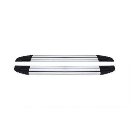 Пороги площадки Can Otomotiv на Фольксваген Тигуан 2016-2020 №7 Brilliant Silver, алюм. VW