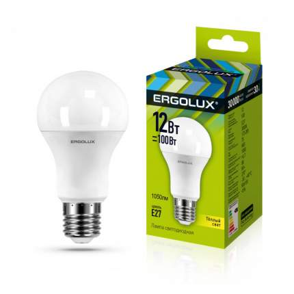 Лампа Ergolux LED-A60-12W-E27-3K