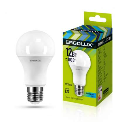 Лампа Ergolux LED-A60-12W-E27-4K