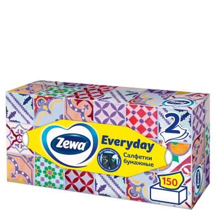 Салфетки бумажные косметические Zewa everyday 2 слоя 150 штук