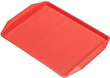 Поднос для фаст-фуда красный 42 х 32 см, 1 шт,