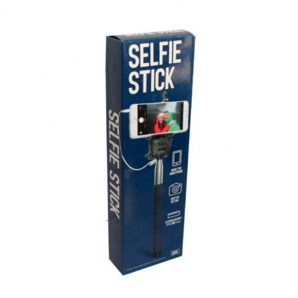 Селфи-палка для смартфона. Синяя. 91 см.