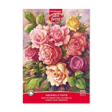 Альбом для рисования с бумагой для акварели на клею ArtBerry® Розы, А4, 20 листов