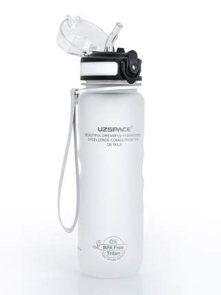Бутылка для Воды UZSPACE Sports Bottle Straw 500 мл / 3043/white