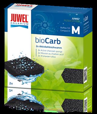 Губка для внутреннего фильтра Juwel Bio Carb M для Bioflow 3.0, уголь, 2 шт, 47 г