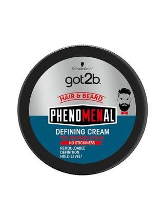 "Крем для волос и бороды Got2b ""phenoMENal"", средняя фиксация 3, 100 мл"