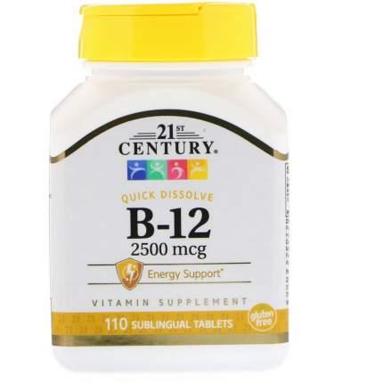 Витамин B12 21st Century B-12 2500 mcg 110 таблеток