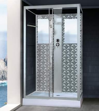 Душевая кабина Niagara Lux NG-7711WBK 120х90 см серебро