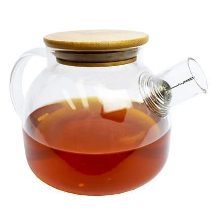 Заварочный стеклянный чайник, 0.9 л, прозрачный, MARMA MM-TPT-08