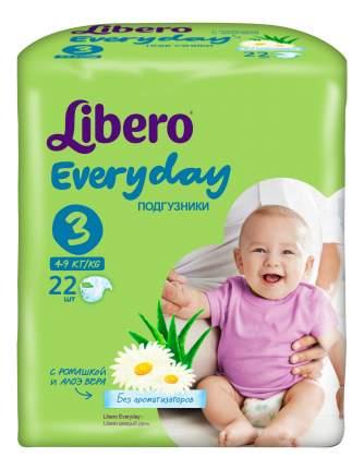 Подгузники Libero Everyday Size 3 (4-9кг), 22 шт.