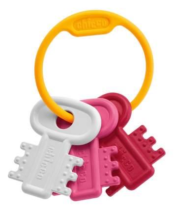 Погремушка-прорезыватель Chicco Ключи на кольце, розовая