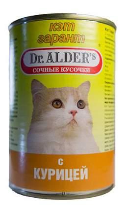 Консервы для кошек Dr. Alder's Cat Garant, с курицей в соусе, 24шт по 415г
