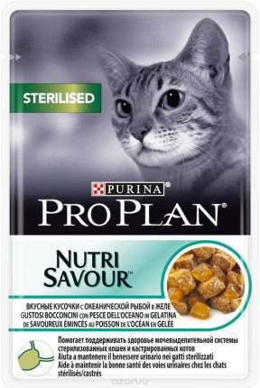 Влажный корм для кошек PRO PLAN Nutri Savour Sterilised, рыба, 85г