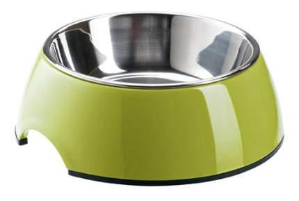 Одинарная миска для кошек Super Design, металл, зеленый, 0.16 л