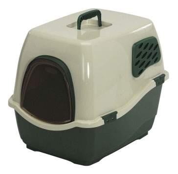 Туалет для кошек MARCHIOROBILL 2F 57х45х48см с фильтром зеленый