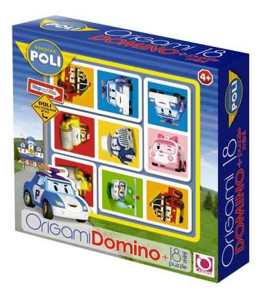Семейная настольная игра Origami Robocar Poli Домино+
