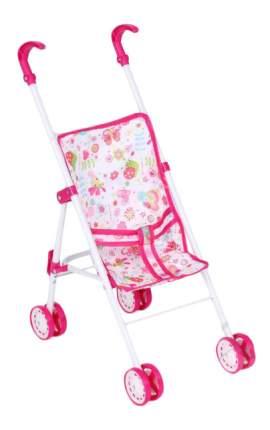 Коляска-трость для кукол, 5818B, Белый+ Розовый+бабочки