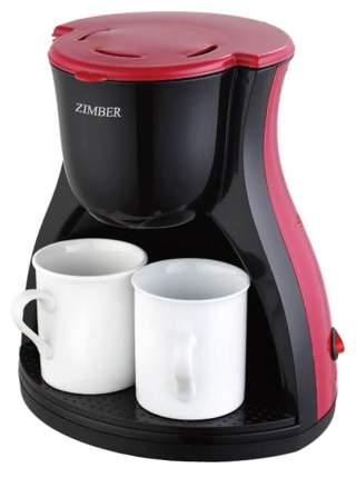Кофеварка капельного типа Zimber 10980 Красный, черный