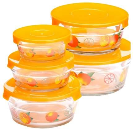 Набор салатниц Loraine 26866-2 Прозрачный, оранжевый