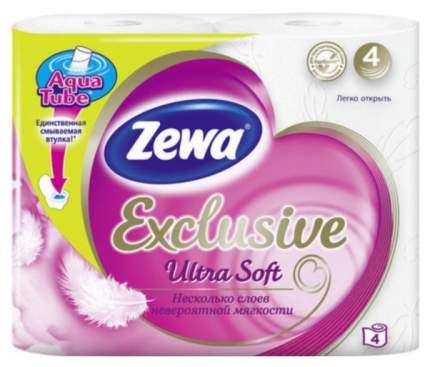 Туалетная бумага Zewa Exclusive Ultra Soft 4-ех слойная 4 шт.