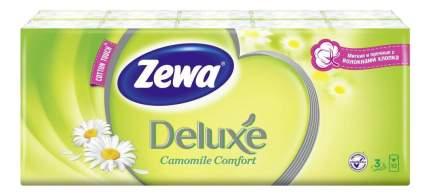 Носовые платки Zewa Deluxe Ромашка 10х10, 10 шт