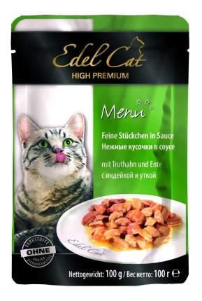 Влажный корм для кошек Edel Cat, индейка, утка, 100г