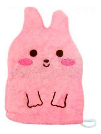 Мочалка-варежка детская Kokubo Розовый кролик