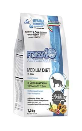 Сухой корм для собак Forza10 Diet Medium, оленина, картофель, 1.5кг