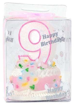 Свеча для торта Hongxing Цифра 9 9x6,8 см