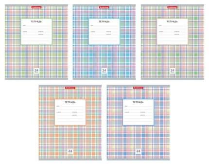 Тетрадь ученическая 24 листа Клетка Новая шотландка