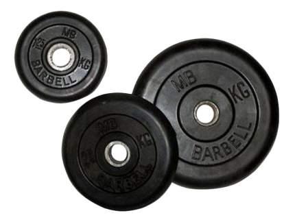 Блин обрезиненный MB Barbell Atlet 10 кг сталь DR-MB26-10B 26 мм черный