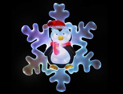 Светильник новогодний Snowhouse Снежинка с Пингвином 13 см