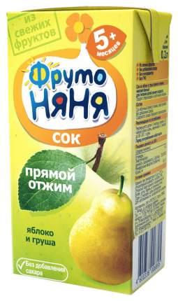 Сок ФрутоНяня Яблоко и груша прямой отжим с 5 мес 200 мл