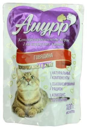 Влажный корм для кошек Амурр, говядина, 100г