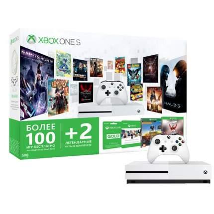 Игровая приставка Microsoft Xbox One S 500Gb +Xbox LIVE 3 мес.+NHL16 +PUBG