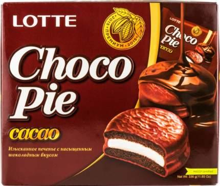 Печенье Lotte choko pie cacao с насыщенным шоколадным вкусом 336 г