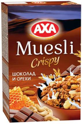 Мюсли сrispy AXA шоколад и орехи 250 г