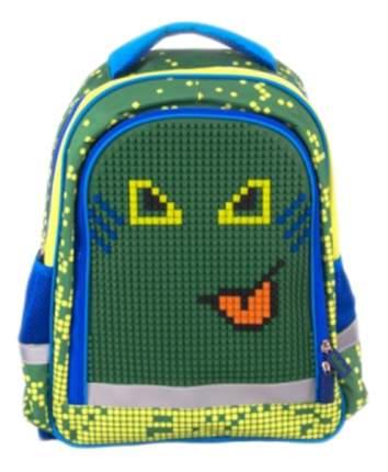 Рюкзак Gulliver школьный с пикси-дотами (зеленый)